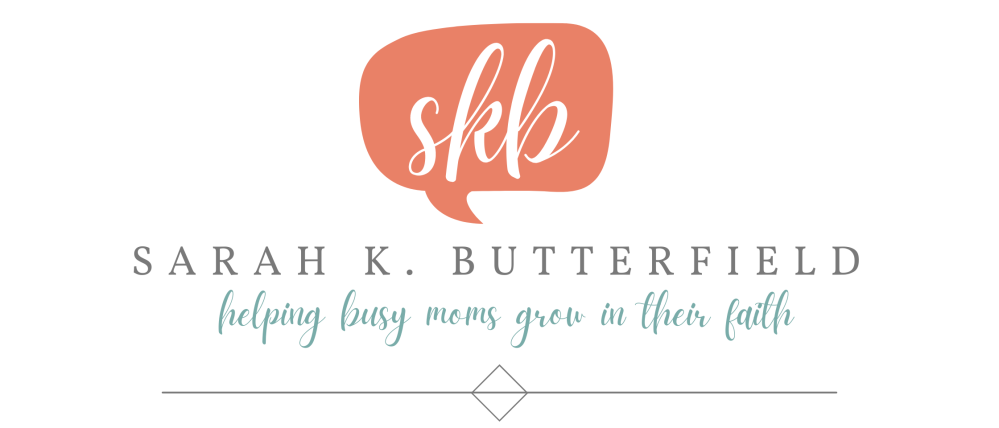 Sarah K. Butterfield, helping busy moms grow in their faith