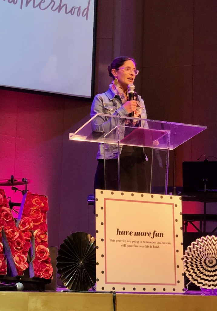 Speaking at women's ministry event