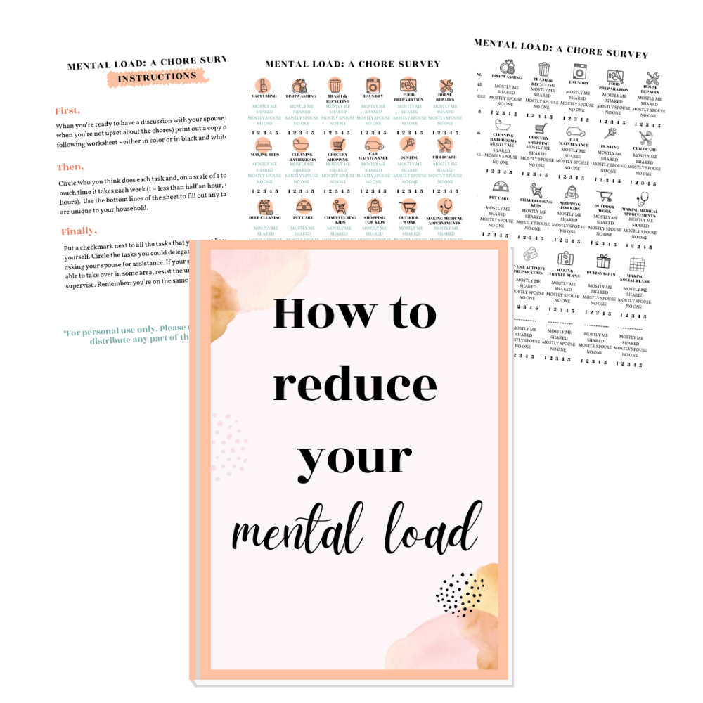 How to reduce your mental load this free worksheet will help
