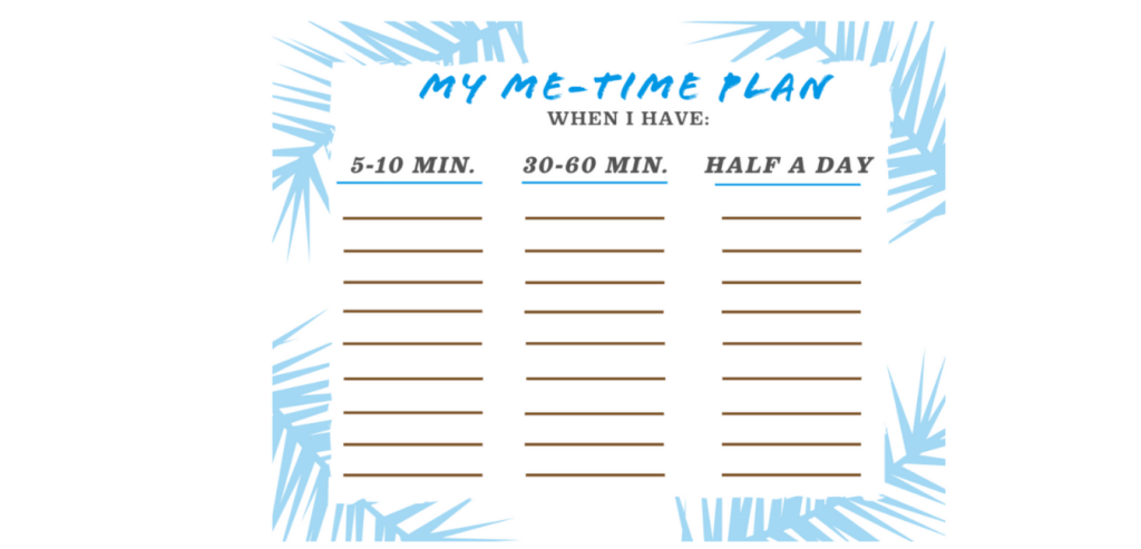 A free worksheet to help you brainstorm a list of playful activities that bring you joy